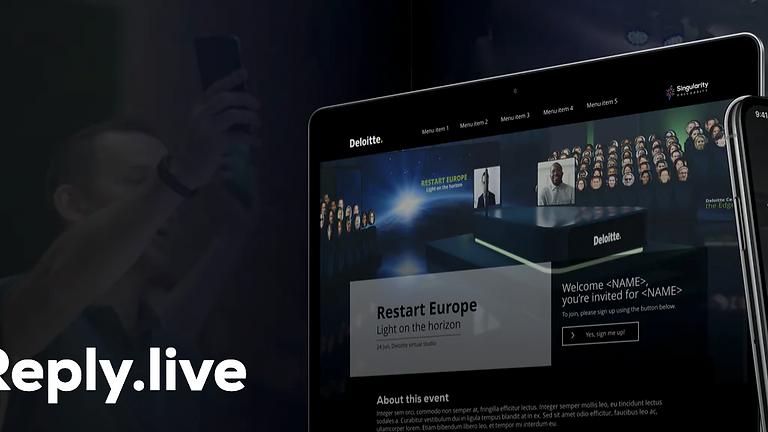 DEMO   Eventplatform reply.live & Virtuele studio