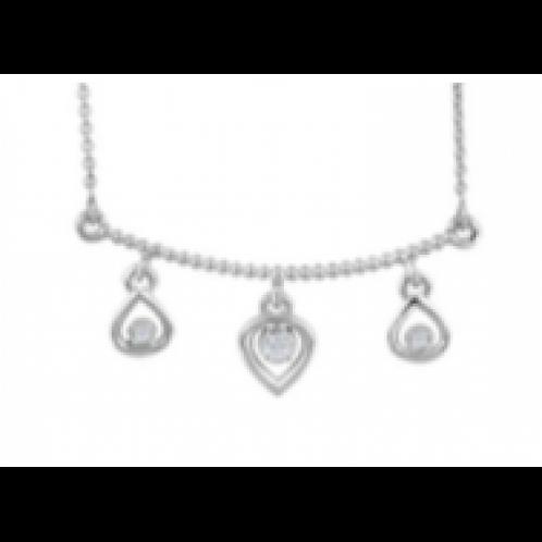 White Gold & Diamond Bar Pendant