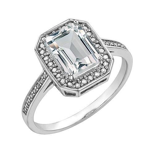 White Gold Topaz Ring GR889