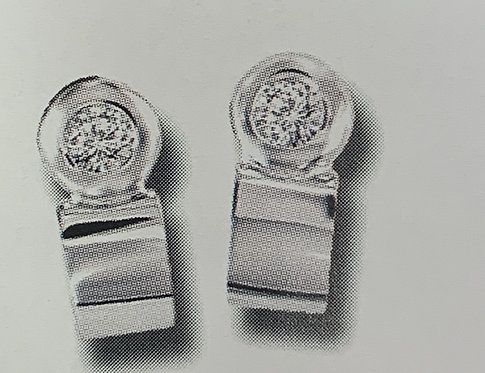 White Gold w Dia Stud Earrings with Huggie Drop Design