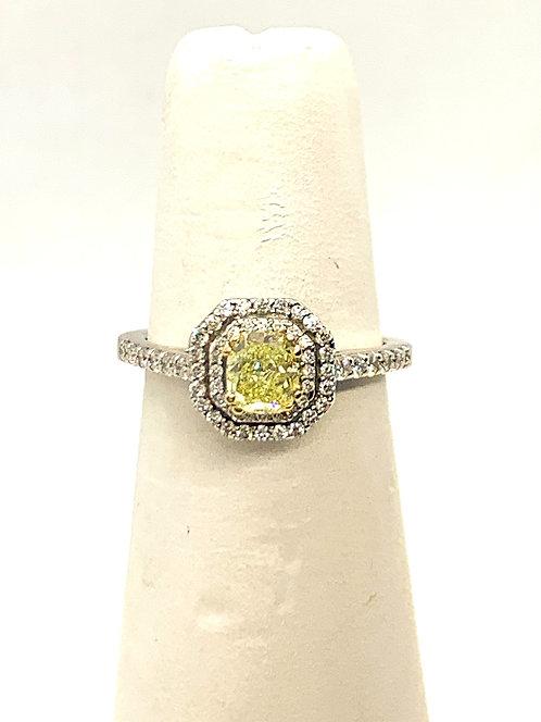 WG Canary Diamond Engagement Ring ES1090