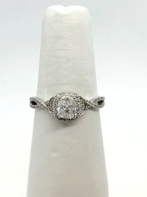 WG Illusion set Diamond Ring