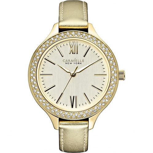 Caravelle New York Ladies Analog Display Japanese Quartz Gold Watch