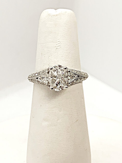 WG Illusion set Diamond Engagement Ring