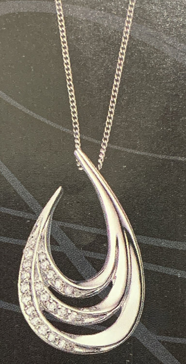 WG Diamond Swirl Pendant