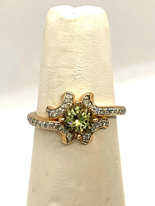 Rose Gold Diamond & Csarite Dinner Ring