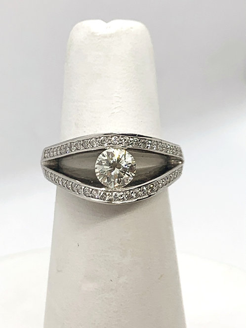 WG Ghost mount RBC diamond Ring