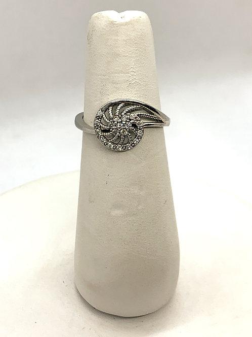 White Gold Diamond Pinwheel Ring DR2734