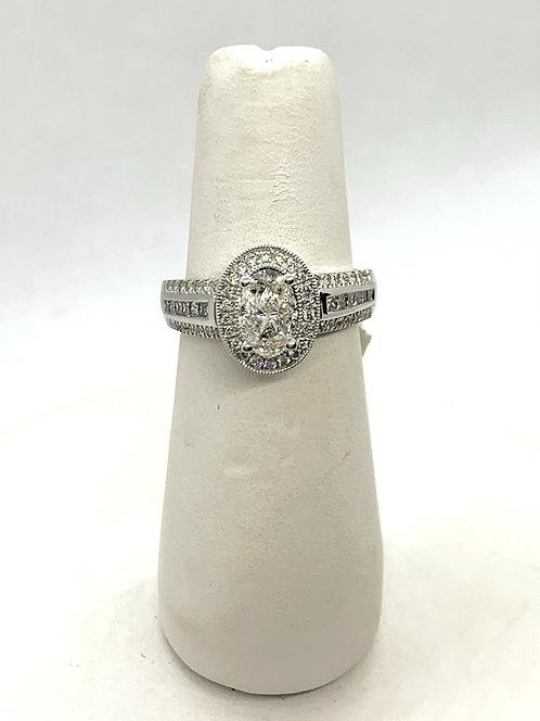 White Gold Illusion Set Diamond Ring