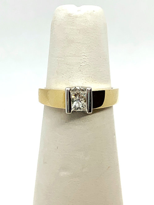 YGWG Princess Cut Diamond Solitaire Ring