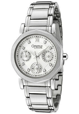 Caravelle by Bulova Women's 8 Diamond Stainless Steel Silver Tone Watch