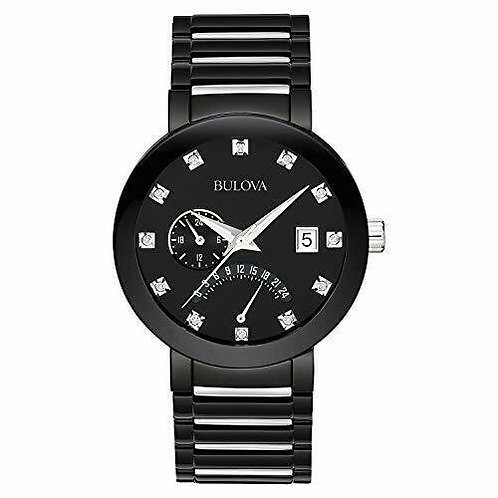Bulova Men's Diamond Accented Dial Bracelet Watch Black