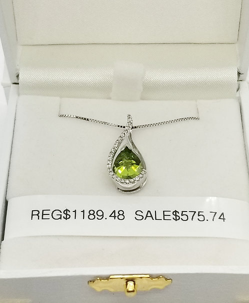 Diamond and Peridot Pendant