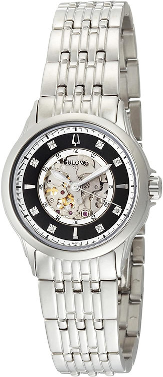 Bulova Women's Mechanical Hand Wind Diamond Mother of Pearl Dial Watch