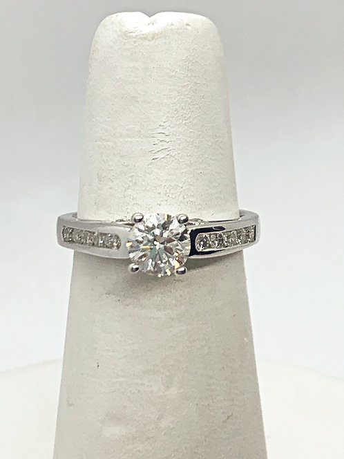 WG RBC diamonds Engagement Ring