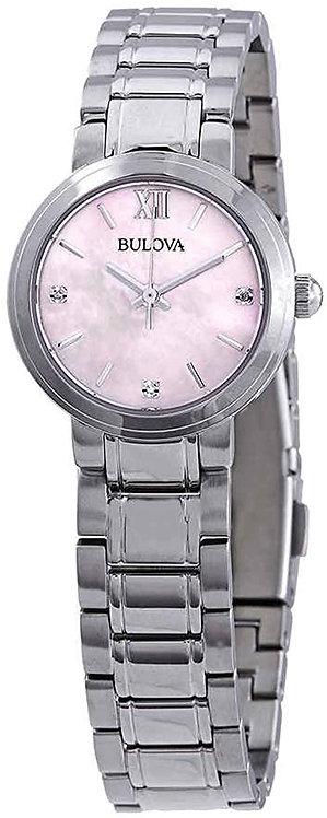 Bulova Pink Diamond Mother of Pearl Dial Ladies Watch