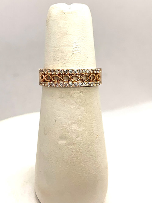 Rose Gold Cubic Zirconia Infinity Band