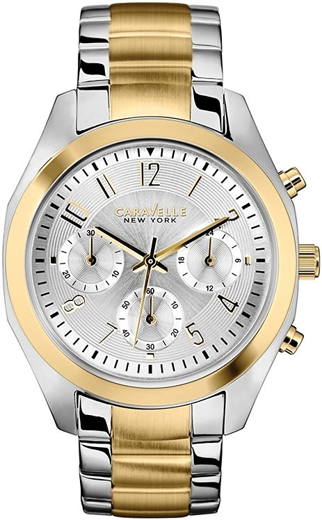 Caravelle New York Ladies Melissa Two Tone Chronograph Watch