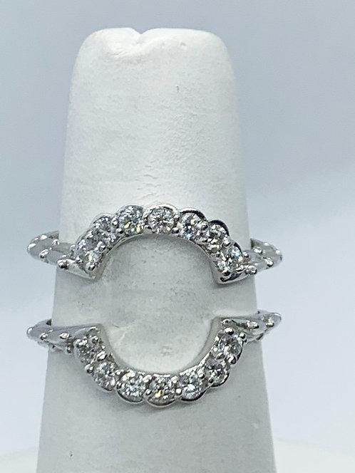 WG RBC Diamonds with Bamboo design Wedding Set (Bands) ES1072
