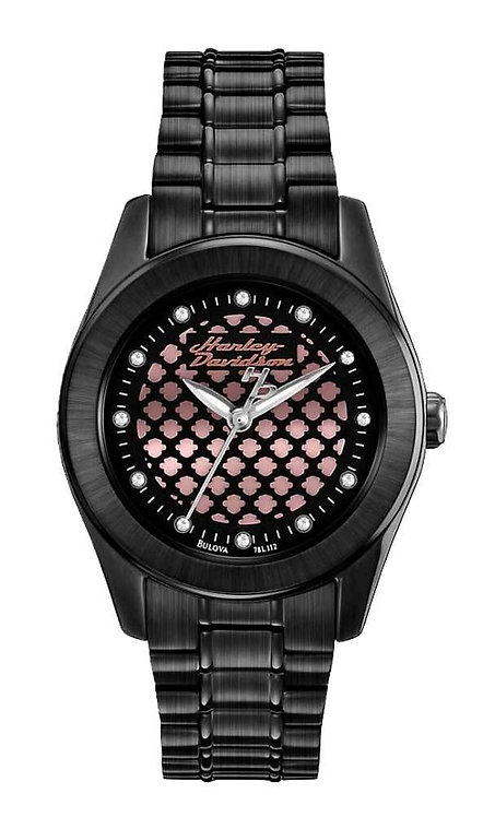 Harley-Davidson® Womens Watch, Rose Gold Dial