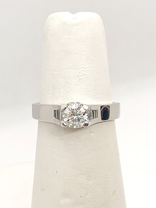 WG Diamond Solitaire Engagement Ring