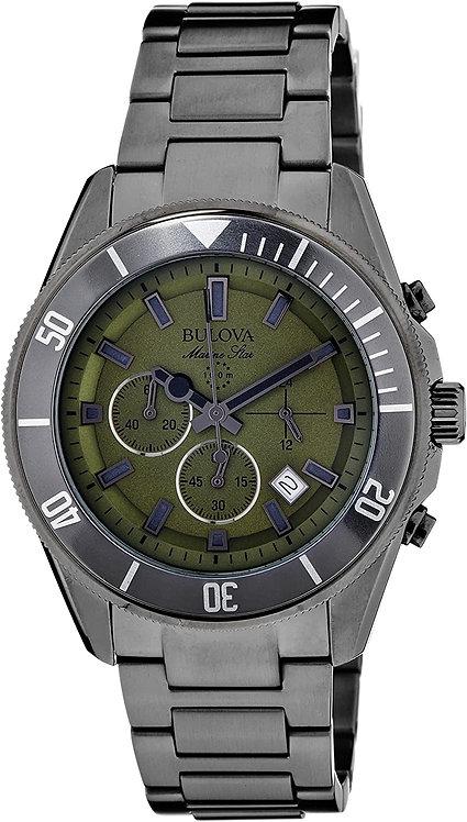 Bulova Men's Analog Display Japanese Quartz Grey Watch