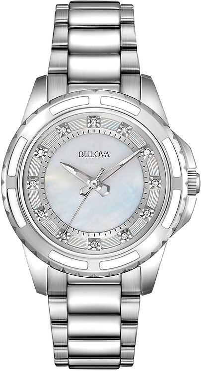Women Watch Bulova Diamond Collection Stainless Steel Case and Bracelet