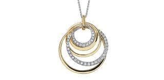 Yellow Gold Diamond Swirl Necklace