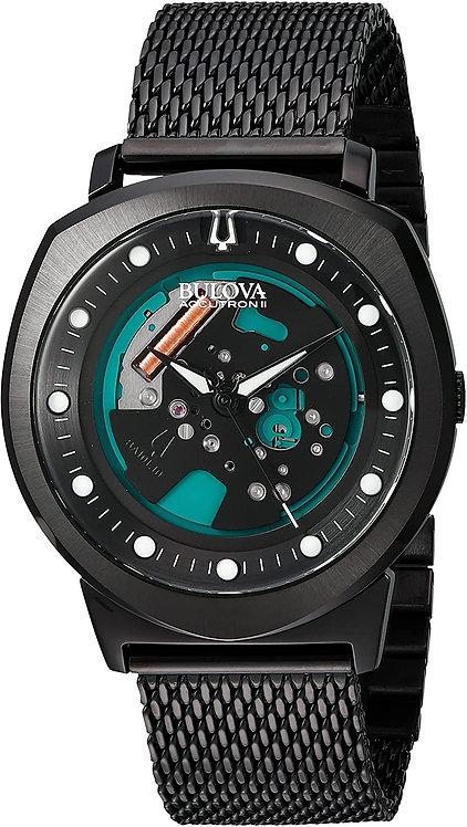 Bulova Men's Accutron Black Steel Watch Band