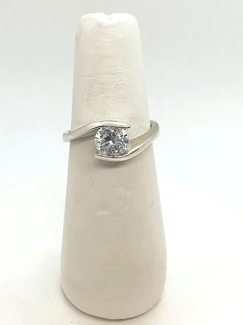 White Gold Zirconia Solitaire Ring