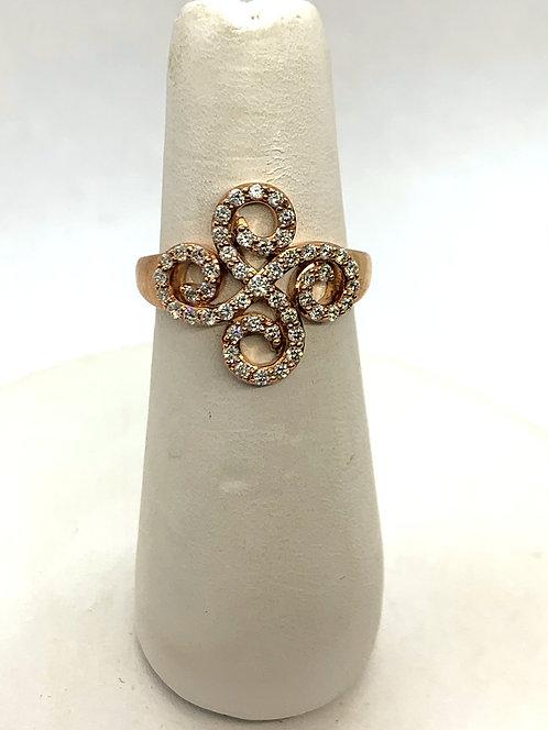 Rose Gold Diamond Twirls Ring