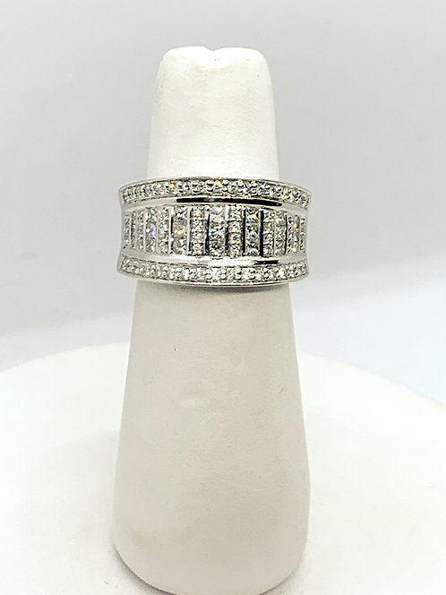 White Gold & Diamond Dinner Ring