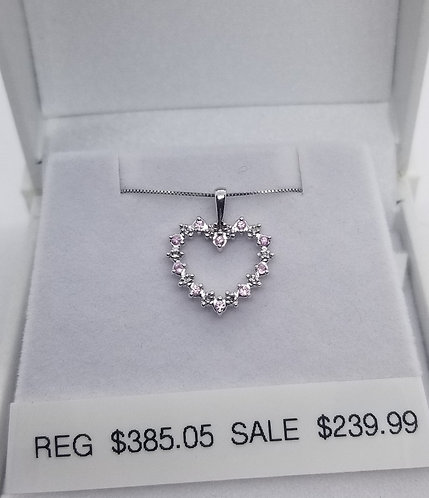 Diamond and Pink Sapphire Pendant