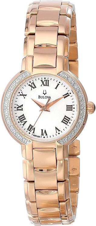 Bulova Classic Round Diamond Accented Women's Watch