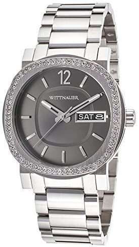 Wittnauer Mens Stainless Steel Watch With Crystals