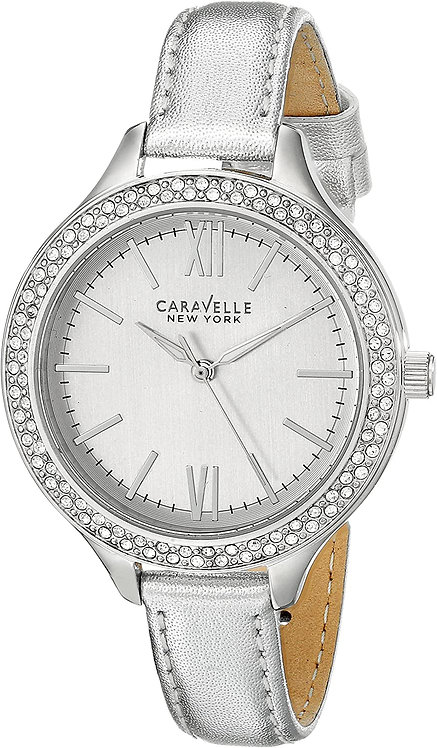 CARAVELLE NEW YORK Women's Analog Display Japanese Quartz Silver Watch