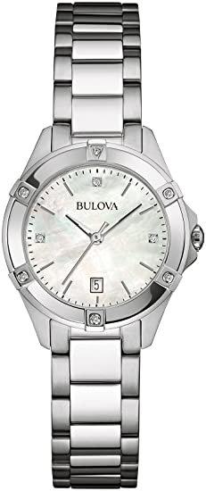 Bulova Women's Stainless Steel Silver Watch Bracelet