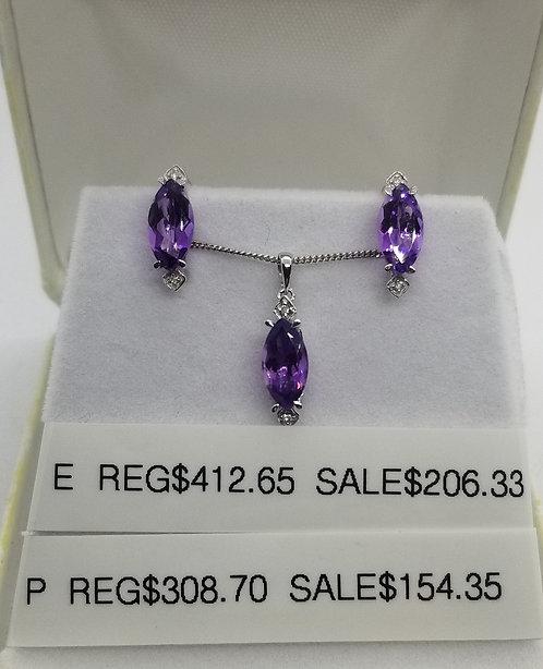 Diamond and Amethyst Pendant