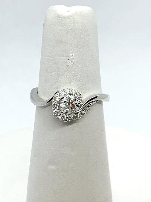 WG RBC diamond swirl Engagement Ring