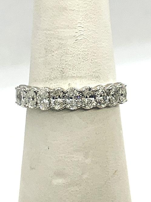 White Gold Oval Diamonds Band