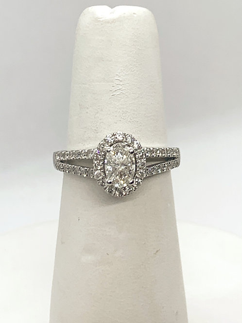 WG Oval Illusion set Diamond Halo Ring