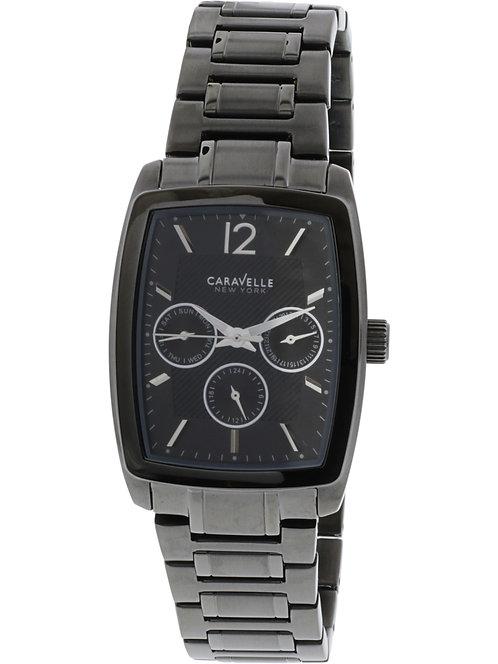 Caravelle Men's Black Stainless-Steel Japanese Quartz Fashion Watch