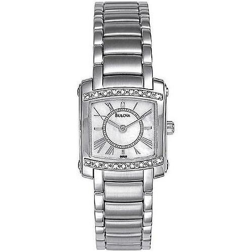 Bulova Diamond Accented Mother of Pearl Watch