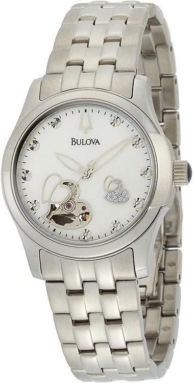 Bulova Woman Diamond Automatic and Mechanical Pearl Dial watch