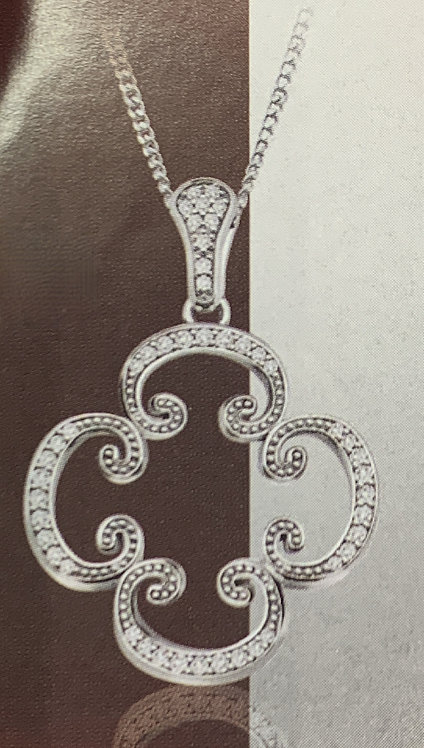 White Gold Fancy Diamond Pendant