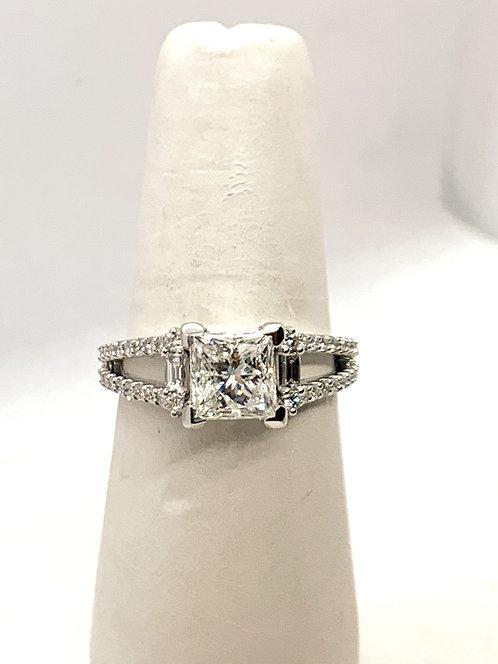 WG 2CT Princess Cut Diamond Ring