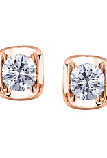 Rose Gold Tension Set .20CT Diamond Stud Earrings