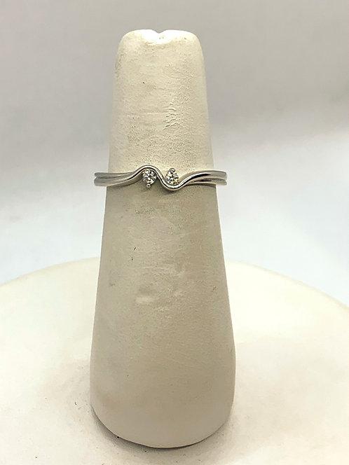 White Gold Over Under Diamond Ring