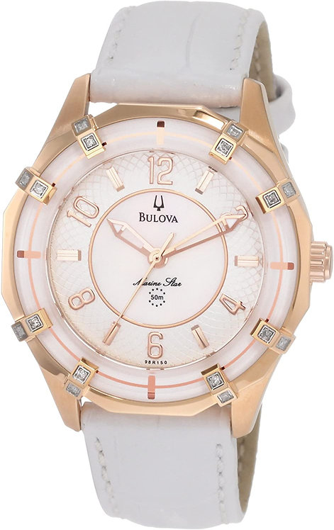 Bulova Women's Solano Marine Star Leather strap Watch