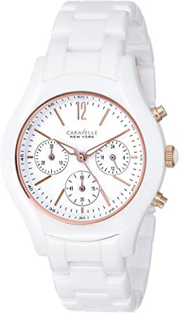 Bulova Caravelle New York Ceramic Ladies Watch